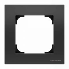 Рамка 1-постовая ABB Sky чёрный бархат 2CLA857100A1501