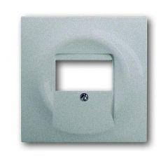 Лицевая панель ABB Impuls розетки UAE/TAE серебристо-алюминиевый 2CKA001753A0056