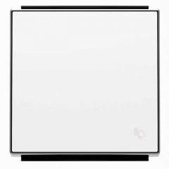 Лицевая панель ABB Sky выключателя одноклавишного Звонок альпийский белый 2CLA850400A1101