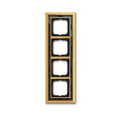 Рамка 4-постовая ABB Dynasty латунь полированная/черная роспись 2CKA001754A4578