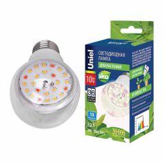 Лампа светодиодная для растений (UL-00007404) Uniel E27 10W прозрачная LED-A60-10W/SPFB/E27/CL PLP30WH