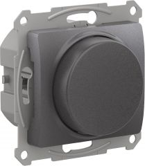 Schneider Electric GLOSSA СВЕТОРЕГУЛЯТОР (диммер) повор-нажим, LED, RC, 315Вт, мех., ГРАФИТ