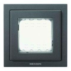 Рамка монтажная ITA 1-постовая ABB Zenit IP55 антрацит N3271 AN