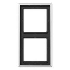 Рамка 2-постовая Jung LS 990 алюминий AL2982