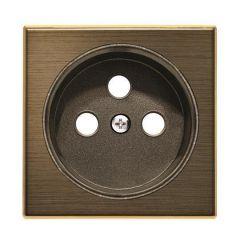 Лицевая панель ABB Sky розетки французского стандарта античная латунь 2CLA858700A1201