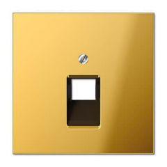 Накладка 1-ой наклонной телефонной/компьютерной розетки Jung LS 990 блеск золота GO2969-1UA