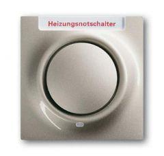 Лицевая панель ABB Impuls выключателя одноклавишного с подсветкой маркировкой HNS шампань-металлик 2CKA001753A6612