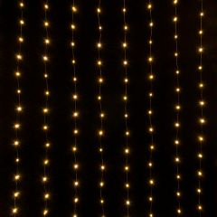 Занавес световой [2x3 м] Eurosvet Роса 200-004 теплый белый