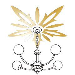 Декор настенно-потолочный Ваша Светлость ВАСИЛЕК-5 золото 2-01901FG Комплект наклеек
