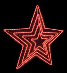 Neon-Night Панно световое (1.5x1.5 м) 3D Звезда 501-535