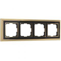 Werkel Рамка на 4 поста (золото/черный) W0041330