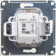Schneider Electric GLOSSA 1-клавишный ВЫКЛЮЧАТЕЛЬ, сх.1, 10АХ, механизм, ПЕРЛАМУТР