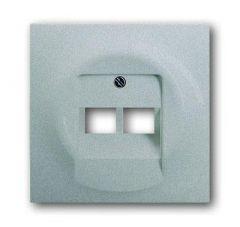 Лицевая панель ABB Impuls розетки 2хUAE серебристо-алюминиевый 2CKA001753A0084