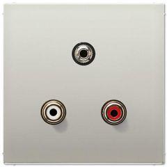 Аудио-разъем RCA/Stereo Jack (TRS 3.5 mm) Jung LS 990 edelstahl MAES1011
