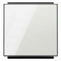 Лицевая панель ABB Sky выключателя одноклавишного с подсветкой стекло белое 2CLA850130A2101
