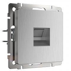 Werkel Розетка Ethernet RJ-45 (cеребряный рифленый) W1181009