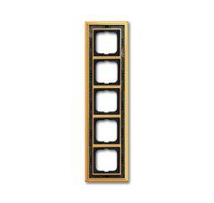 Рамка 5-постовая ABB Dynasty латунь полированная/черная роспись 2CKA001754A4579