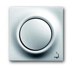 Лицевая панель ABB Impuls выключателя одноклавишного с подсветкой Звонок серебристо-алюминиевый 2CKA001753A0071