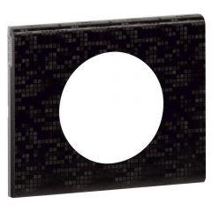 Рамка 1-постовая Legrand Celiane кожа блэк пиксел 069451