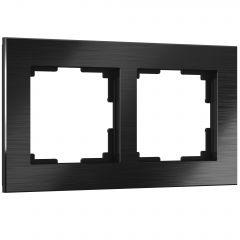 Werkel Рамка на 2 поста (черный алюминий) W0021708