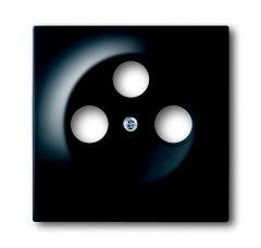 Лицевая панель ABB Impuls розетки TV-R-SAT чёрный бархат 2CKA001753A0139