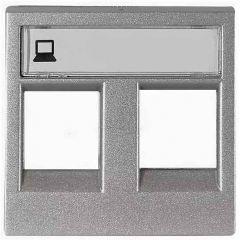 Лицевая панель ABB Zenit розетки компьютерной серебро N2218.2 PL