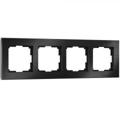 Werkel Рамка на 4 поста (черный алюминий) W0041708