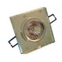 Точечный светильник LFlash CT578-CL CR стекло квадрат прозр/хром MR16 G5.3 50W