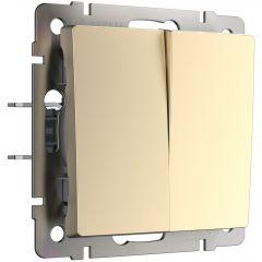 Werkel Выключатель двухклавишный проходной (шампань) W1122011