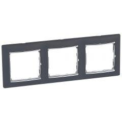Рамка 3-постовая Legrand Valena ноктюрн/серебряный штрих 770393