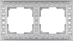 Werkel Рамка Antik на 2 поста (жемчужный) WL07-Frame-02