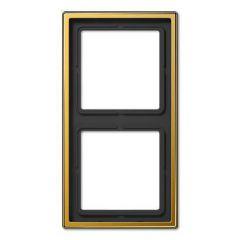 Рамка 2-постовая Jung LS 990 золото LS982GGO