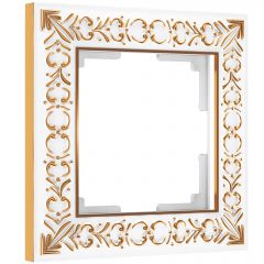 Werkel Рамка на 1 пост (белое золото) W0011523