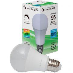 Лампа светодиодная диммируемая Наносвет E27 12W 4000K матовая LE-GLS-D-12/E27/840 L239