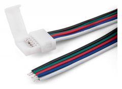 Соединитель лент гибкий Elektrostandard для светодиодных лент 12/24V Коннектор для лент 5050+5050 24V 60Led 14,4W IP20 RGBW, 5050 24V 60Led 14,4W IP20 RGBW гибкий односторонний (10pkt)