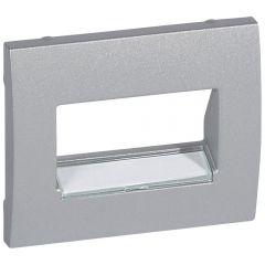 Лицевая панель Legrand Galea Life розетки RJ45 с держателем этикеток алюминий 771375