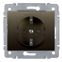 Розетка 2К+3 Legrand Galea Life 16A 250V с/з со шторками автоматические клеммы темная бронза 771263