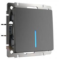 Werkel Выключатель одноклавишный с подсветкой (графит рифленый) W1110104