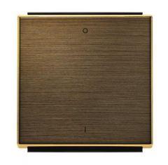 Лицевая панель ABB Sky выключателя одноклавишного с символом I/O античная латунь 2CLA850120A1201