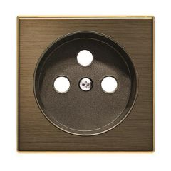 Лицевая панель ABB Sky розетки французского стандарта античная латунь 2CLA858790A1201