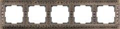 Werkel Рамка Antik на 5 постов (бронза) WL07-Frame-05