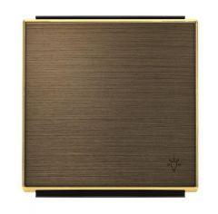 Лицевая панель ABB Sky выключателя одноклавишного Свет античная латунь 2CLA850420A1201