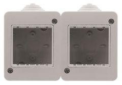 Коробка для накладного монтажа 2-постовая ABB Zenit IP40 N3292.1