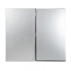 Лицевая панель Legrand Valena выключателя двухклавишного алюминий 770252