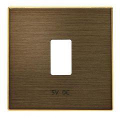 Лицевая панель ABB Sky розетки USB античная латунь 2CLA858520A1201