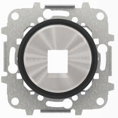 Лицевая панель ABB Sky Moon розетки RJ45/RJ12 cтекло чёрное 2CLA861810A1501