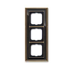 Рамка 3-постовая ABB Dynasty латунь античная/черное стекло 2CKA001754A4587