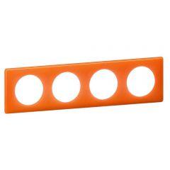 Рамка 4-постовая Legrand Celiane оранжевый муар 066654