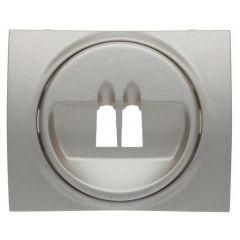 Лицевая панель Legrand Galea Life розетки акустических систем алюминий 771300