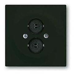 Лицевая панель ABB Impuls аудиорозетки двойной чёрный бархат 2CKA001753A0145